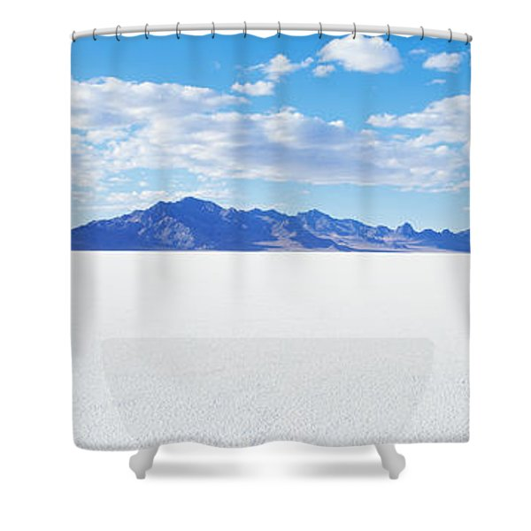 Bonneville Salt Flats, Utah, Usa Shower Curtain