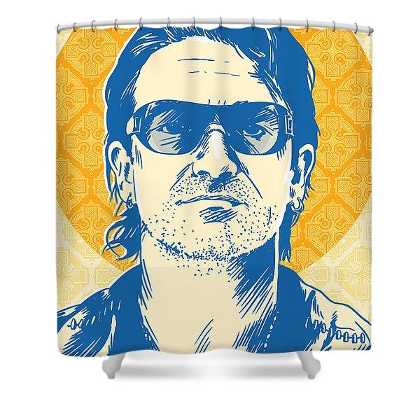Bono Pop Art Shower Curtain