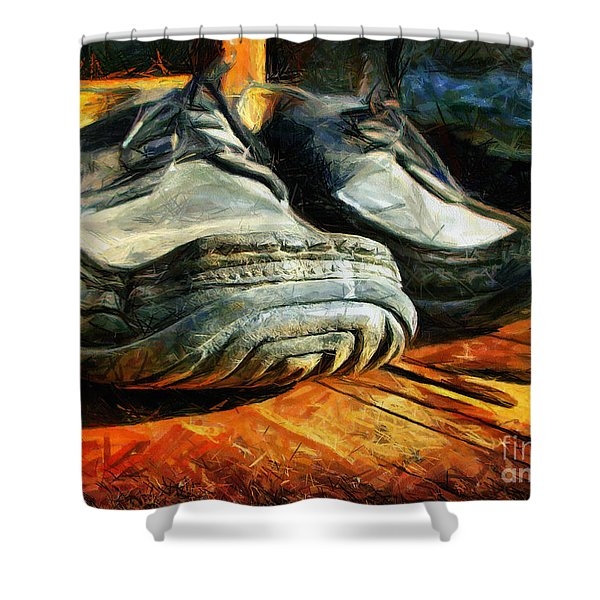 Boogie Shoes - Walking Story - Drawing Shower Curtain