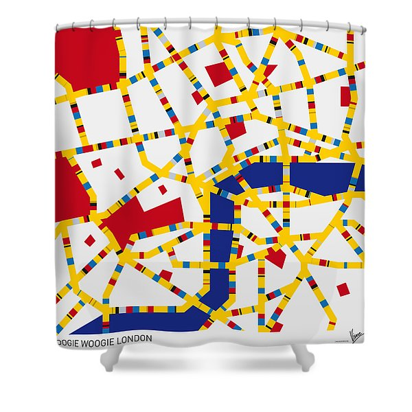 Boogie Woogie London Shower Curtain