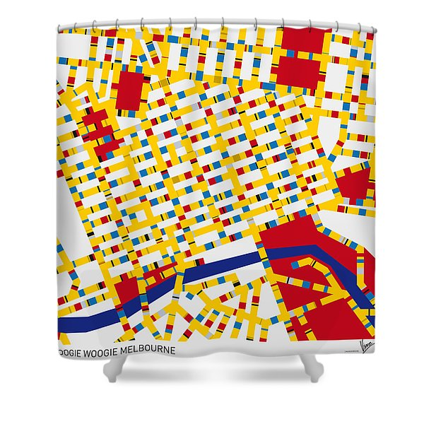 Boogie Woogie Melbourne Shower Curtain