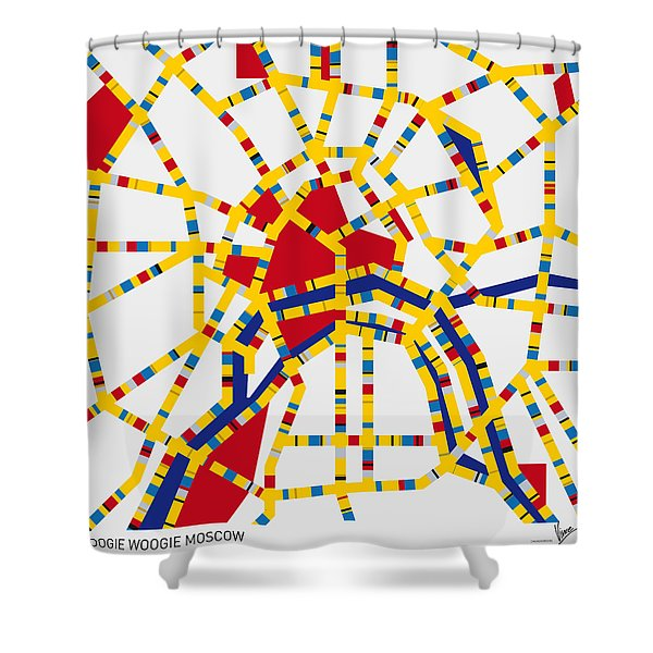 Boogie Woogie Moscow Shower Curtain