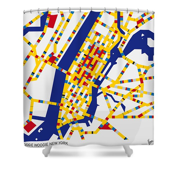 Boogie Woogie New York Shower Curtain