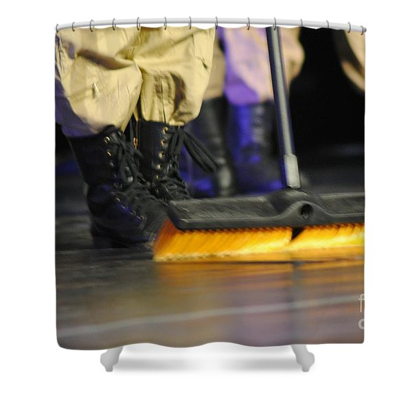 Boots And Brooms Shower Curtain