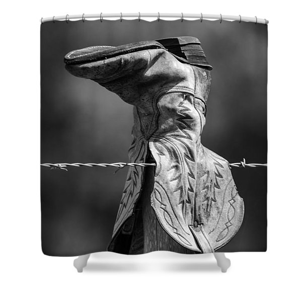 Boot Post Shower Curtain