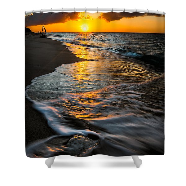 Boracay Sunset Shower Curtain