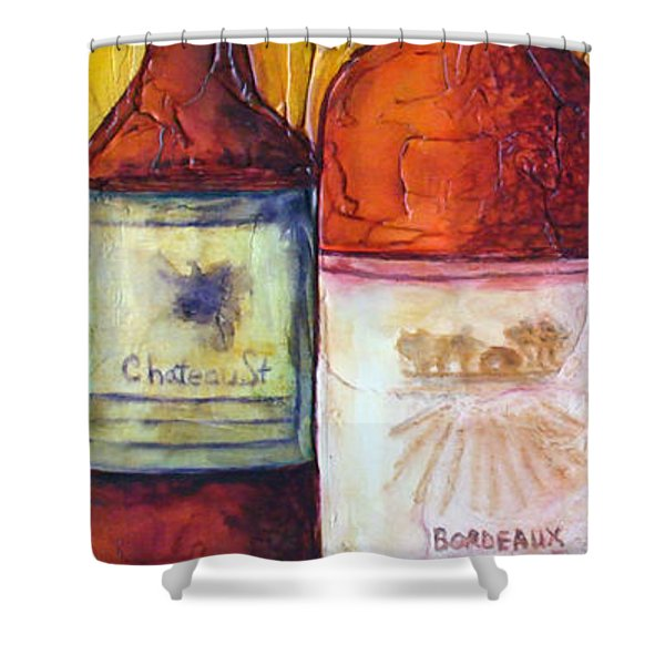 Bordeaux Vino Shower Curtain