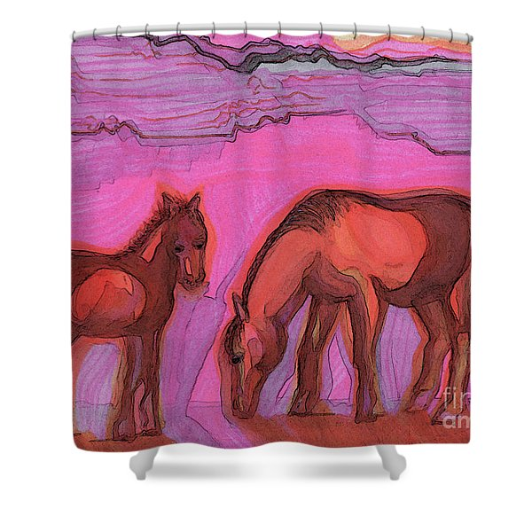 Born On The Mesa By Jrr Shower Curtain