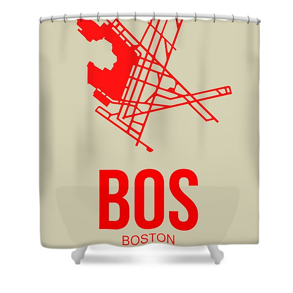 Bos Boston Airport Poster 1 Shower Curtain