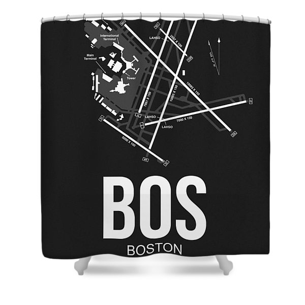 Boston Airport Poster 1 Shower Curtain