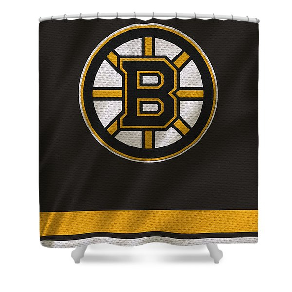 Boston Bruins Uniform Shower Curtain