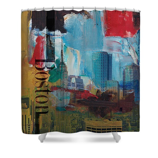 Boston City Collage 3 Shower Curtain