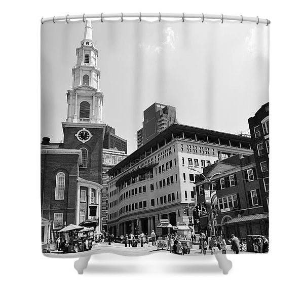 Boston Common Scene Shower Curtain