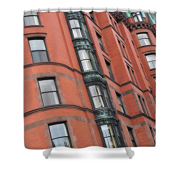 Boston Ma Building Facade Shower Curtain