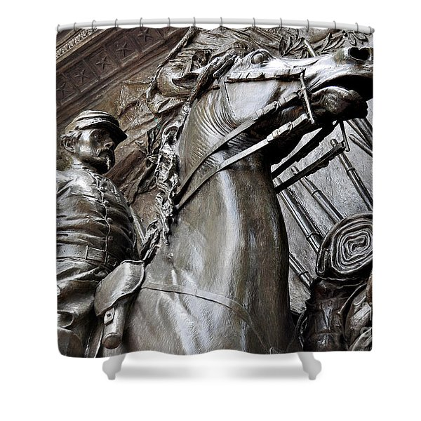 Robert Gould Shaw Memorial Shower Curtain