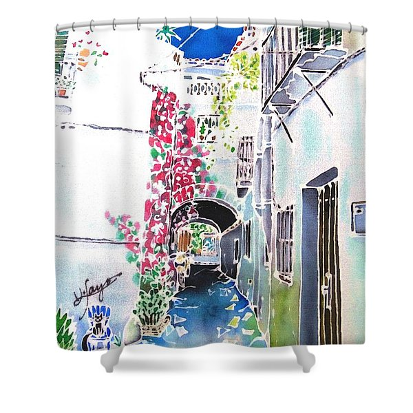 Bougainvillea Path  Shower Curtain