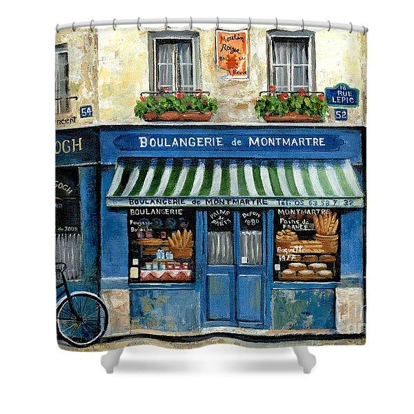 Boulangerie De Montmartre Shower Curtain