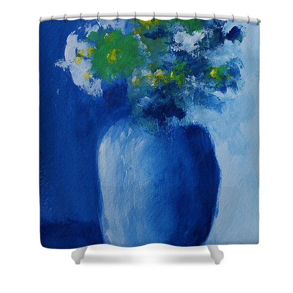 Bouquet In Blue Shadow Shower Curtain