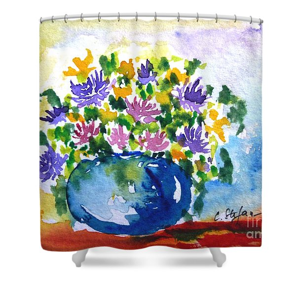 Bouquet Of Flowers In A Vase Shower Curtain