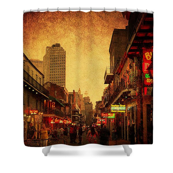 Bourbon Street Grunge Shower Curtain