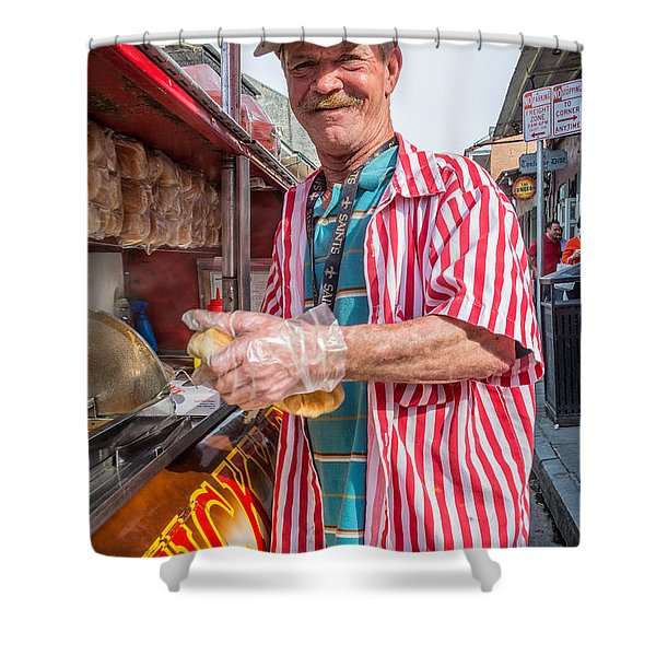 Bourbon Street - Lucky Dog And A Smile Shower Curtain