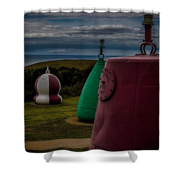 Bouy's Lizard Lighthouse Shower Curtain