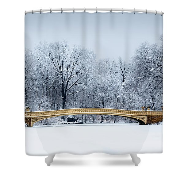 Bow Bridge In Central Park Nyc Shower Curtain