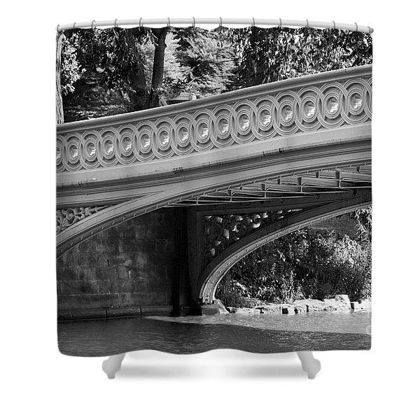 Bow Bridge Texture Bw Shower Curtain