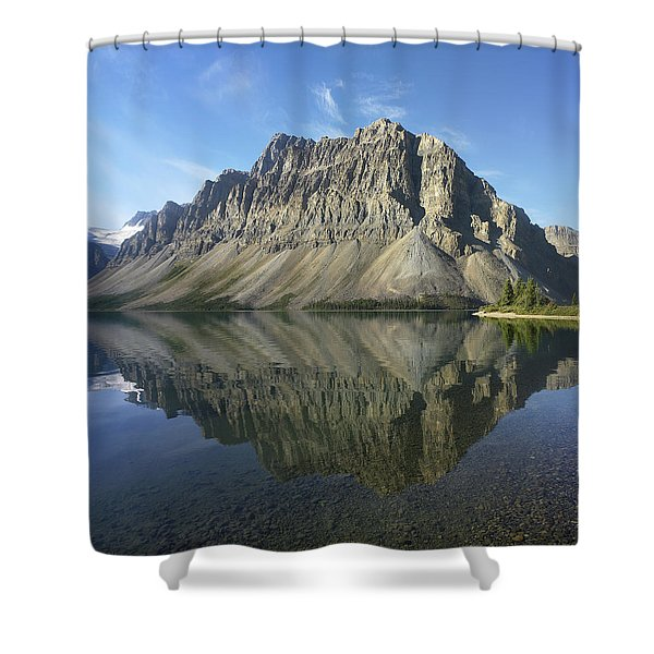 Bow Lake And Crowfoot Mts Banff Shower Curtain