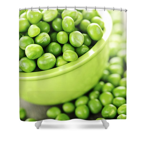 Bowl Of Green Peas Shower Curtain