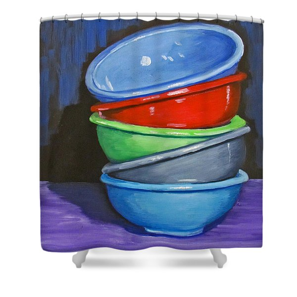 Bowls Shower Curtain