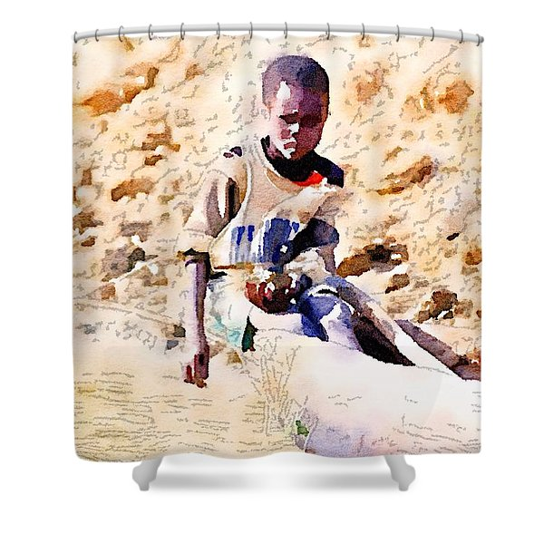 Boy In The Boat Shower Curtain