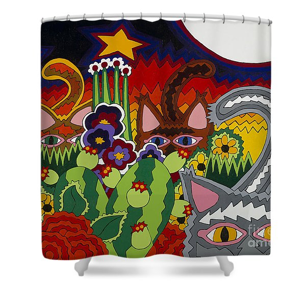 Boys Night Out Shower Curtain