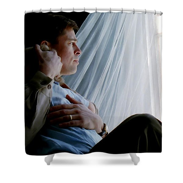 Brad Pitt In The Film The Tree Of Life Shower Curtain