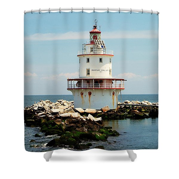 Brandywine Shoal  Lighthouse Shower Curtain