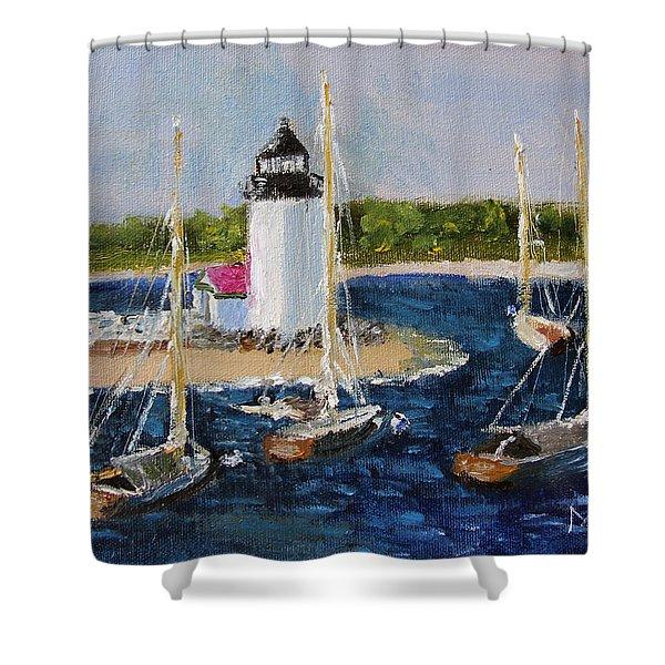 Brant Lighthouse Nantucket Shower Curtain