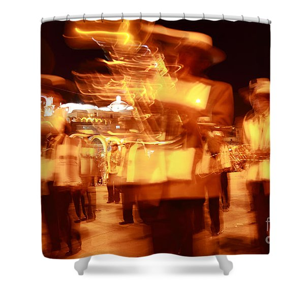 Brass Band At Night Shower Curtain