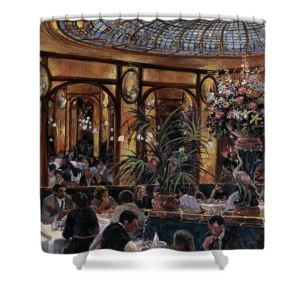Brasserie Bofinger In The Rue De La Bastille, Paris, 1999 Oil On Canvas Shower Curtain