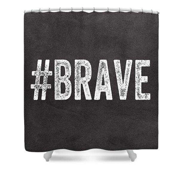 Brave Card- Greeting Card Shower Curtain