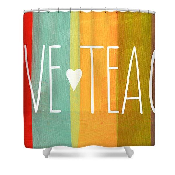 Brave Teacher Shower Curtain