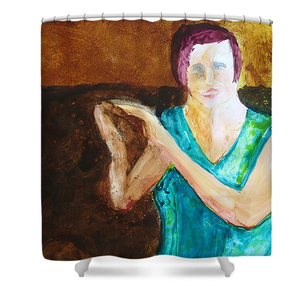 Shower Curtain featuring the painting Bravo by Keith Thue