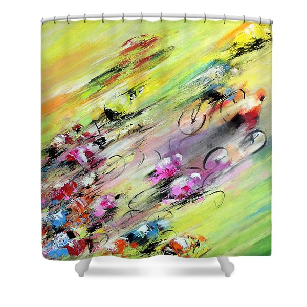Breaking Away Shower Curtain