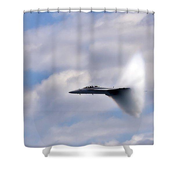 Breaking Through Shower Curtain