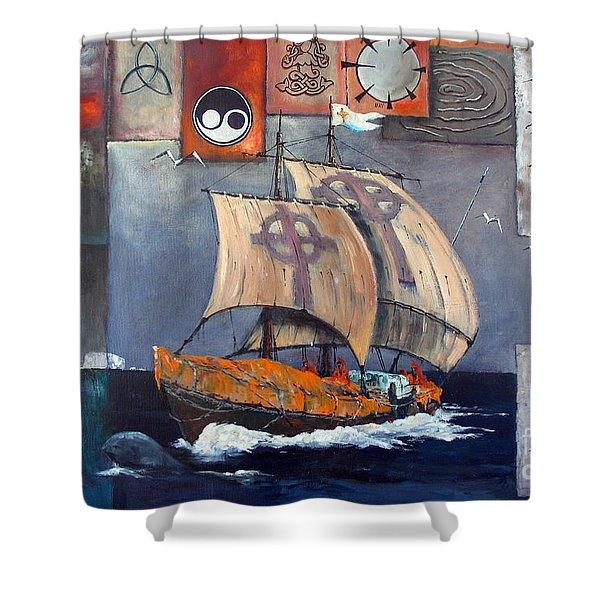 Brendan Voyage Shower Curtain