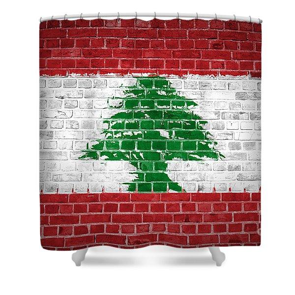 Brick Wall Lebanon Shower Curtain