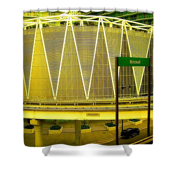 Brickell Station In Miami Shower Curtain