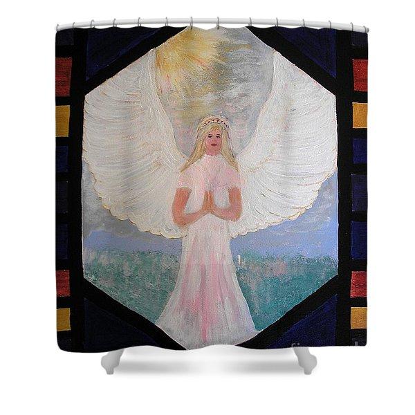 Angel In Prayer  Shower Curtain