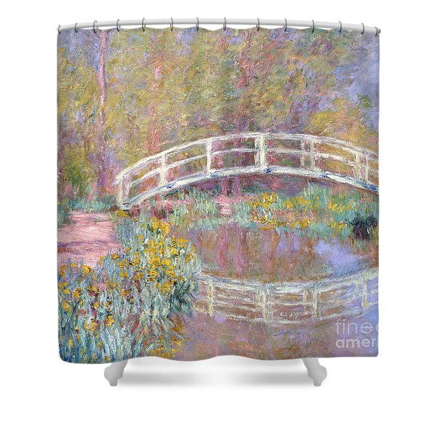 Bridge In Monet's Garden Shower Curtain