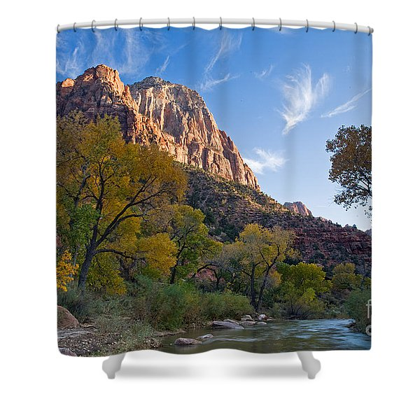 Bridge Mountain Shower Curtain