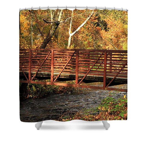 Bridge On Big Chico Creek Shower Curtain